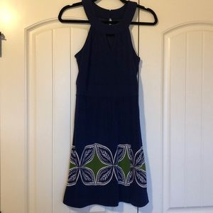 Royal Blue Banana Republic Faux Wrap Dress 2 XS